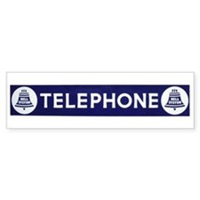 Telephone Bumper Sticker