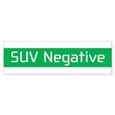 SUV Negative Bumper Bumper Sticker