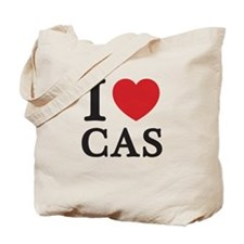 I Love Cas (Red Heart) Tote Bag