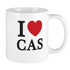 I Love Cas (Red Heart) Mug