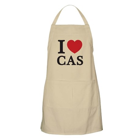 I Love Cas (Red Heart) Apron