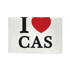 I Love Cas (Red Heart) Rectangle Magnet
