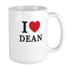 I Love Dean (Red Heart) Mug