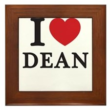 I Love Dean (Red Heart) Framed Tile