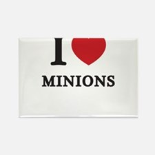 I Love Minions (Red Heart) Rectangle Magnet