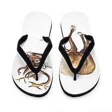 Caribou Animal Flip Flops