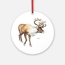 Caribou Animal Ornament (Round)