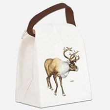 Caribou Animal Canvas Lunch Bag