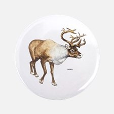 "Caribou Animal 3.5"" Button"