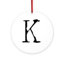 Acoustic Monogram K Ornament (Round)
