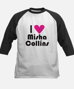 I Love Misha Collins (Pink Heart) Baseball Jersey