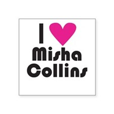 I Love Misha Collins (Pink Heart) Sticker