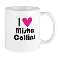 I Love Misha Collins (Pink Heart) Mug