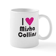 I Love Misha Collins (Pink Heart) Small Mug