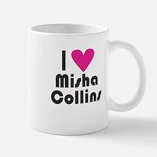 I Love Misha Collins (Pink Heart) Small Small Mug