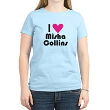 I Love Misha Collins (Pink Heart) T-Shirt