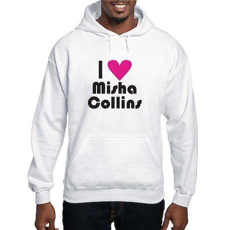 I Love Misha Collins (Pink Heart) Hoodie