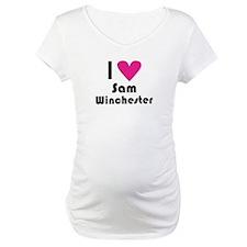 I Love Sam Winchester (Pink Heart) Shirt