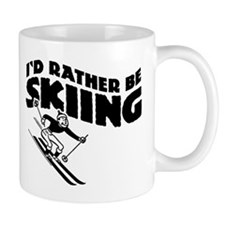 I'd Rather be skiing (male) Coffee Mug