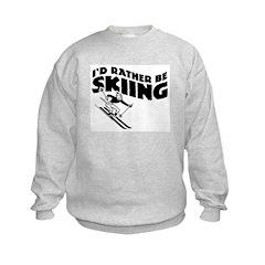 I'd Rather be skiing (male) Sweatshirt