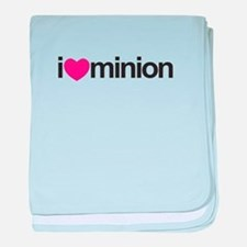 I Love Minion (Pink Heart) baby blanket