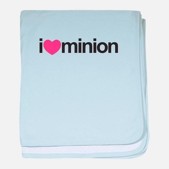 I Love Minion (Pink Heart) baby blanket