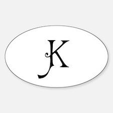 Royal Monogram K Decal