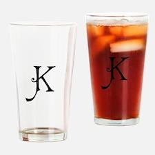 Royal Monogram K Drinking Glass