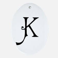 Royal Monogram K Ornament (Oval)