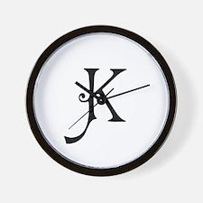 Royal Monogram K Wall Clock