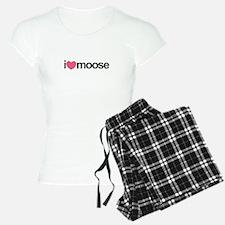 I Love Moose (Pink Heart) Pajamas
