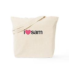 I Love Sam (Pink Heart) Tote Bag