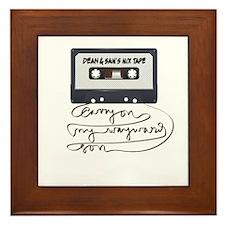 Dean & Sam Mix Tape Framed Tile