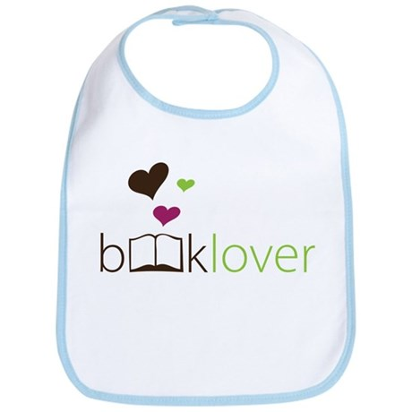 Book Lover - floating hearts Bib