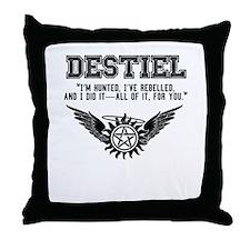 Destiel Quote Series #4 Throw Pillow