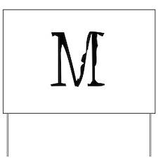 Acoustic Monogram M Yard Sign