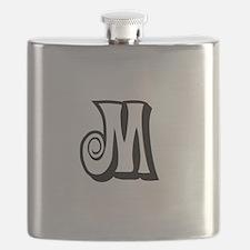 Action Monogram M Flask
