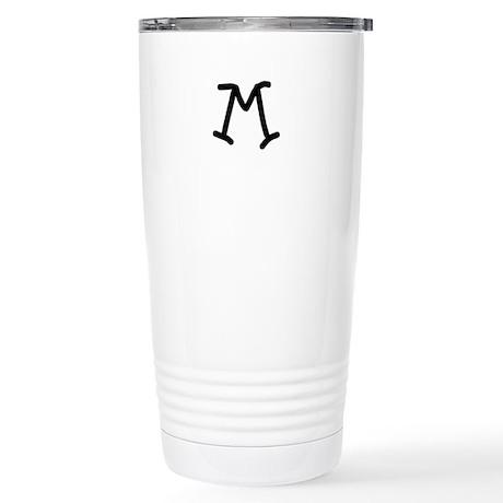 Bookworm Monogram M Travel Mug
