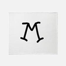 Bookworm Monogram M Throw Blanket