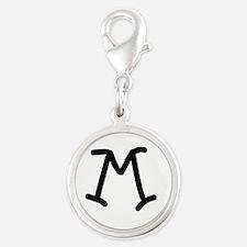 Bookworm Monogram M Charms