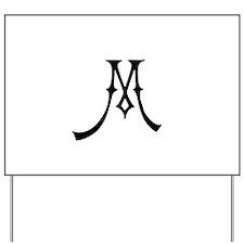 Royal Monogram M Yard Sign