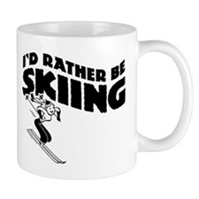 I'd Rather be skiing (female) Coffee Mug