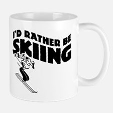 I'd Rather be skiing (female) Mug