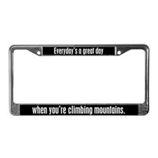 Climbing Mountains License Plate Frame