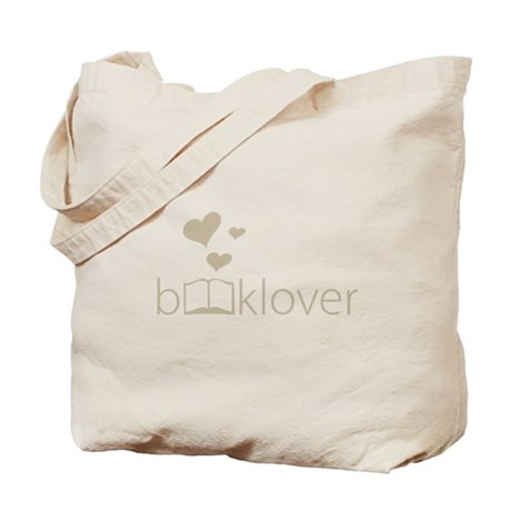 Book Lover - floating hearts - tan Tote Bag