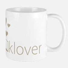 Book Lover - floating hearts - tan Mug