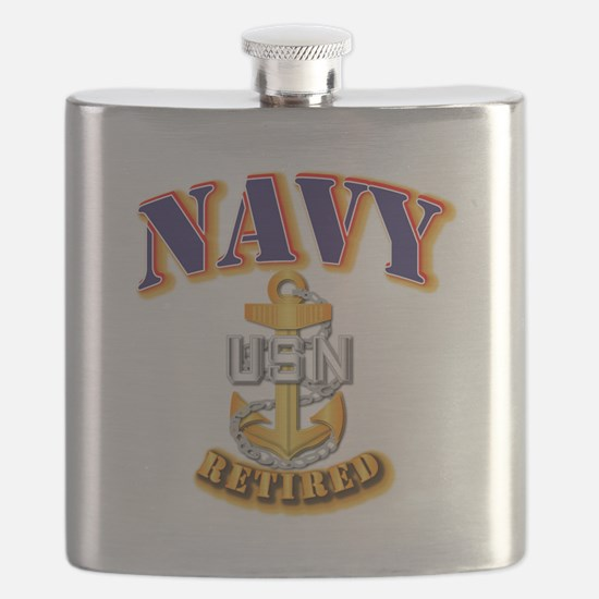 NAVY - CPO - Retired Flask