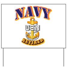 NAVY - CPO - Retired Yard Sign