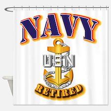 NAVY - CPO - Retired Shower Curtain
