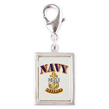 NAVY - CPO - Retired Silver Portrait Charm